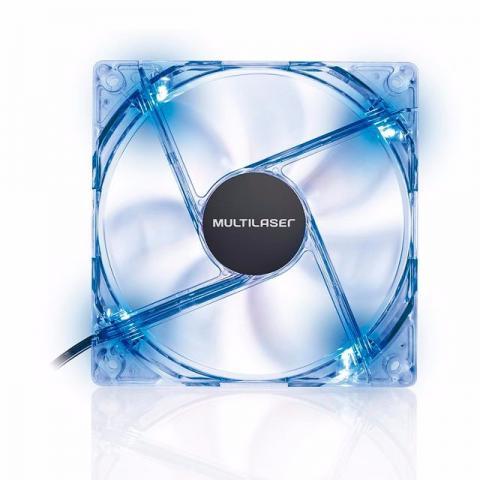 Cooler Roletado Pc Cpu com Led 12x12 Multilaser