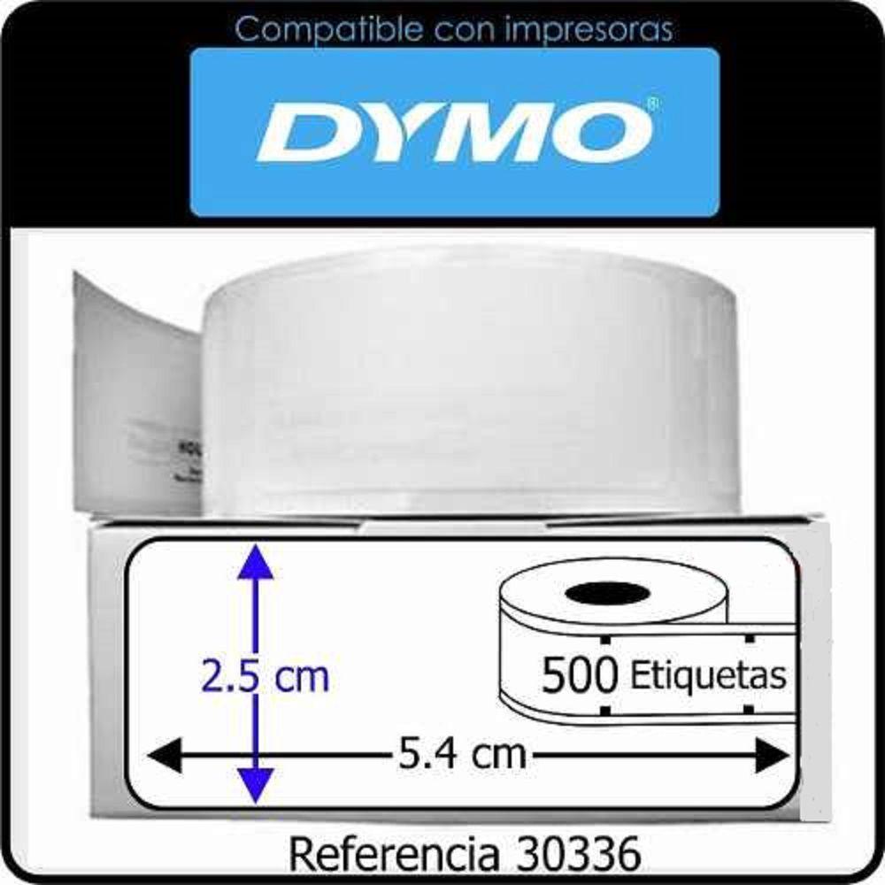 Etiqueta p/ impressora Térmica Dymo 25x54mm 1 Rolo C/500 un 30336c