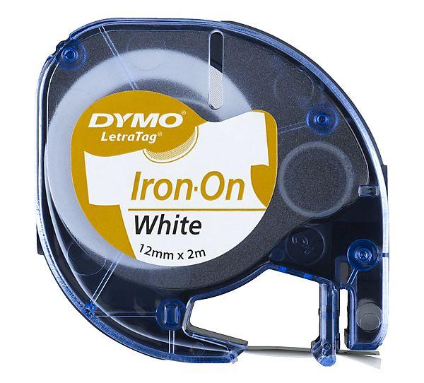 Fita p/ Rotulador Letratag 12mmx2m Aplicar em Tecido pt/ Branco 18771 Dymo