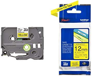 Fita Rotulador Brother Tze-631 12mmx8m Preto/amarelo
