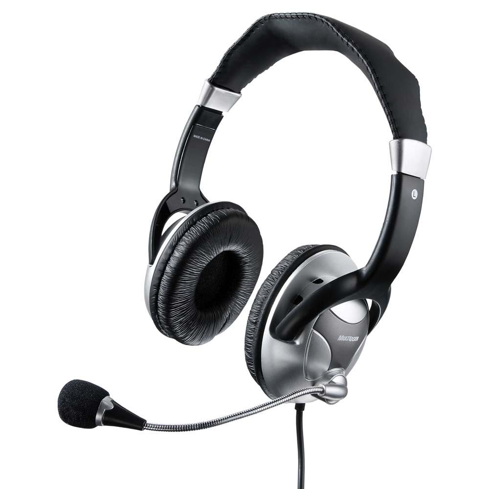 Fone Headset Profissional Big Prata/Preto - Ph031 Multilaser