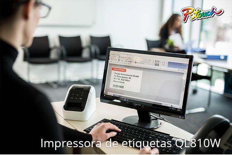 IMPRESSORA DE ETIQUETAS TÉRMICA WIRELESS BROTHER QL-810W
