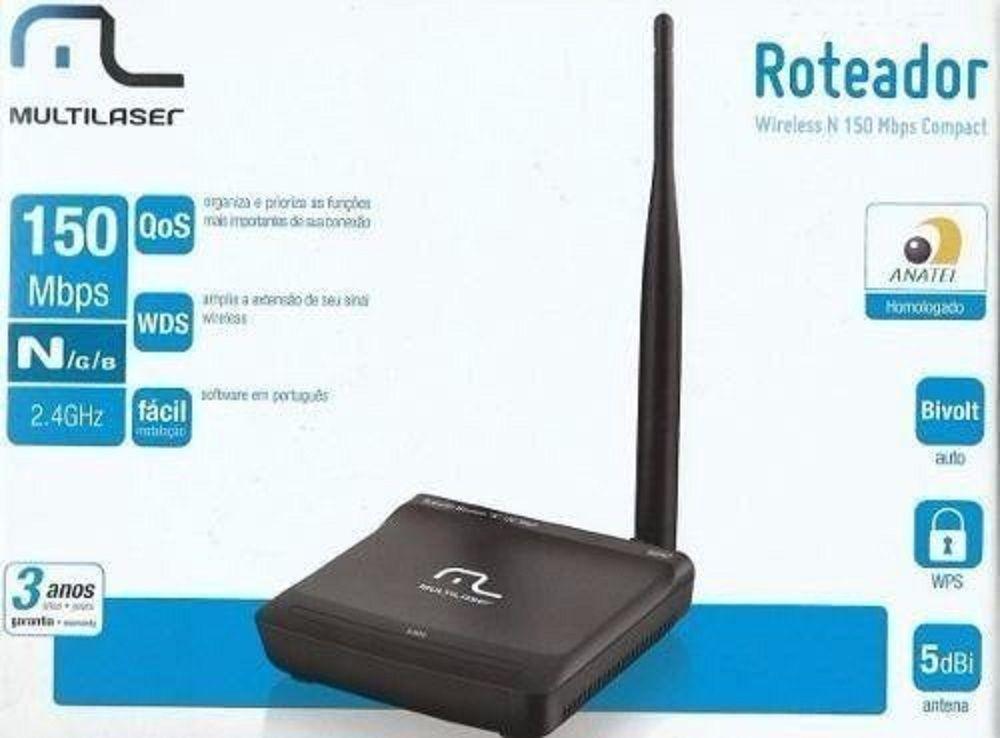 Mini Roteador Multilaser 150 Mbps Bi-volt Antena Fixa Re047