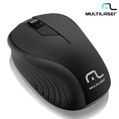 Mouse Óptico Usb Sem Fio Multilaser Preto 2.4ghz - MO212