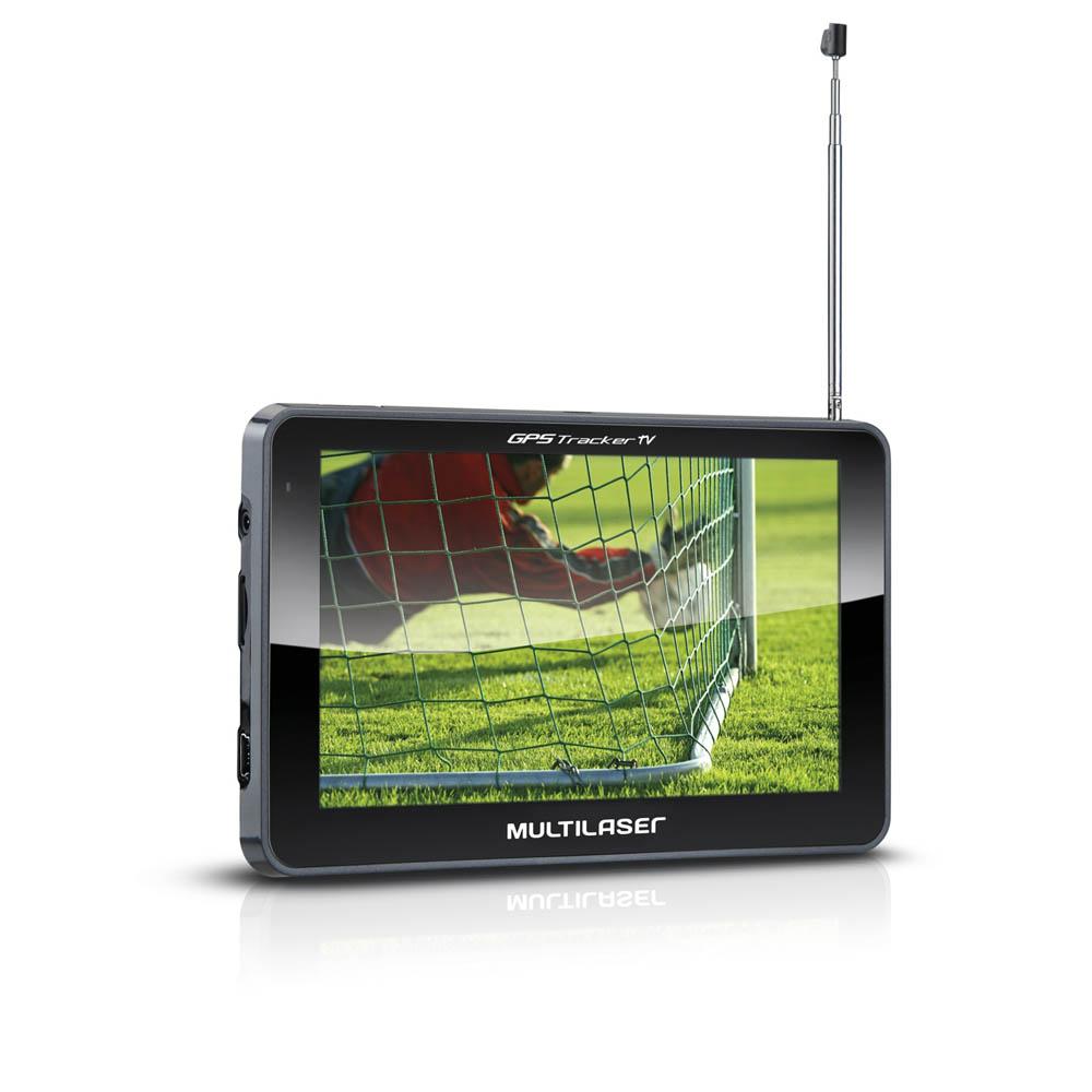 Navegador GPS Tracker 3 Tela 5'' Touch Fm/tv Digital Multilaser GP036