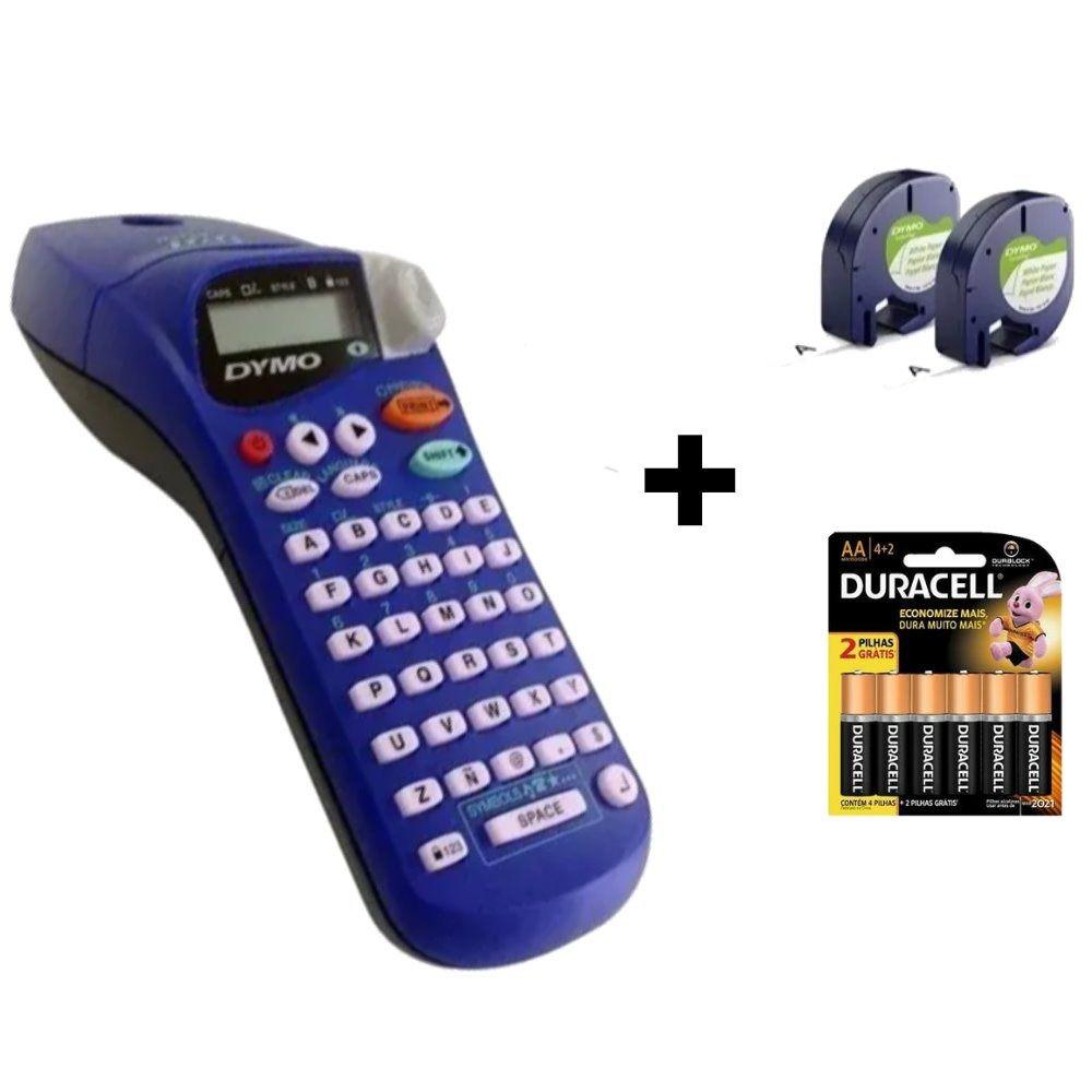 Rotulador Eletrônico Dymo Letratag 2 Fitas Grátis + 6 pilhas