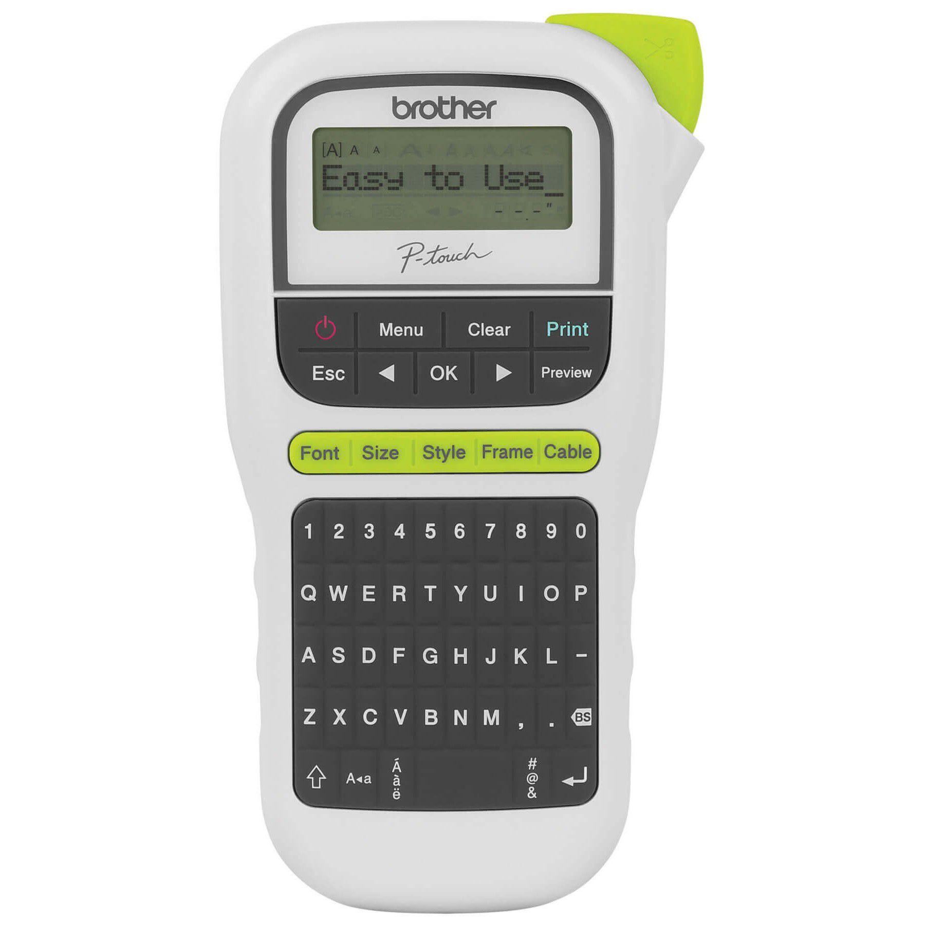 Rotulador Eletrônico Profissional Pt-h110 Brother + Fonte