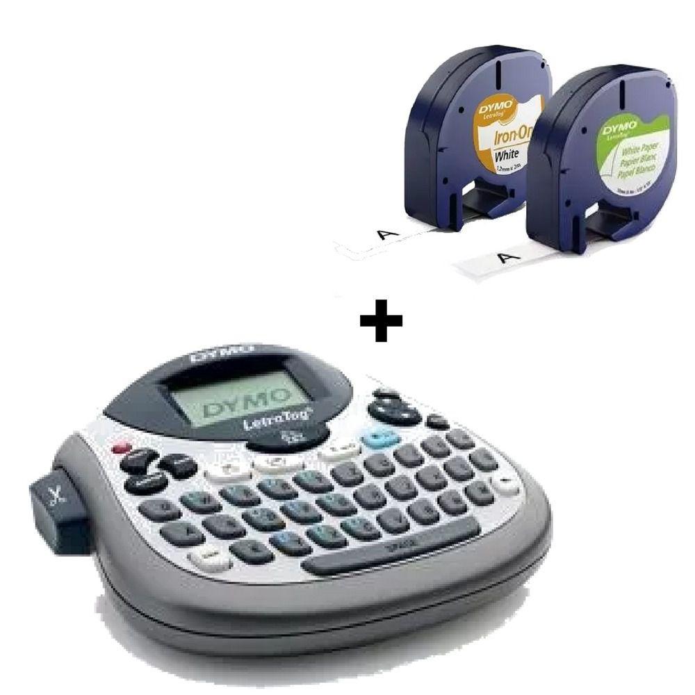 Rotulador Letratag Lt100t +1 Fita De Papel +1 De Tecido Dymo