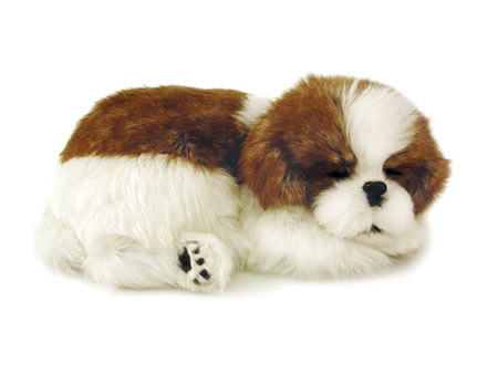Shitzu Cachorro de Pelúcia que Respira Filhote Perfect Petzzz