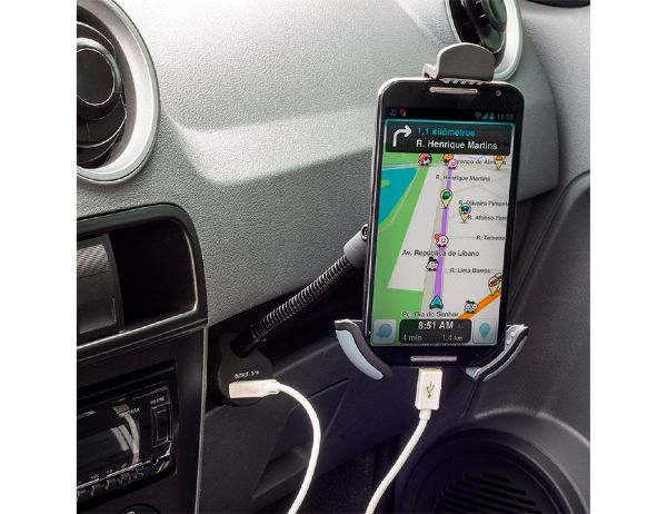 Suporte e Carregador 5v 3.1a P/ Smartphones Multilaser Ac276