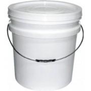 Balde plástico branco com tampa e alça 20 litros