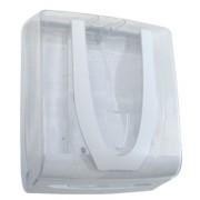 Suporte Unik Color para papel 2 ou 3 dobras (23 x 27 cm) em plástico ABS.