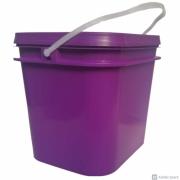 Balde plástico açaí  3,6 litros com tampa - Pacote 30 unidades