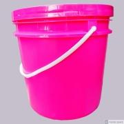 Balde Plástico rosa açaí/sorvete 10 litros com tampa - 20 Unidades