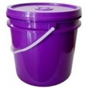 Balde plástico roxo ou branco 10 litros para açaí e sorvete - 10 Unidades