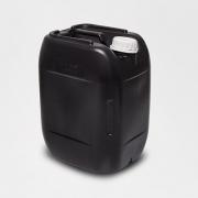 Bombona plástica com alça e tampa fixa PRETA 20 litros - 2 Unidades