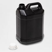 Bombona plástica PRETA 5 litros com tampa fixa (TF) - 20 Unidades