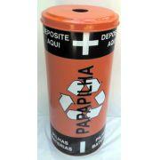 Coletor plástico de Pilhas e baterias  50x24cm