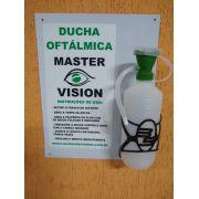 Ducha Lava Olhos de Emergência Master Vision 500ml (Ducha Oftálmica)  - Com placa em PVC