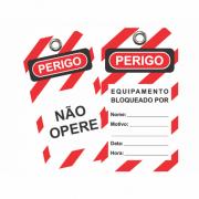 ETIQUETA DE BLOQUEIO - NÃO OPERE EQUIPAMENTO BLOQUEADO