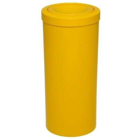Lixeira plástica com tampa meia esfera 52cm