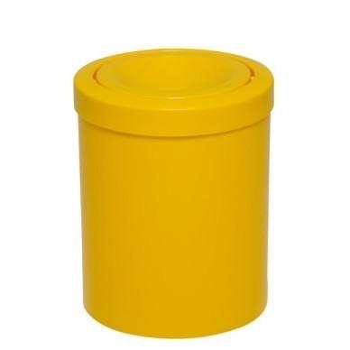 Lixeira plástica com tampa meia esfera 15L