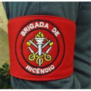 Braçadeira de Brigada de incêndio bordada
