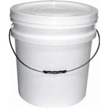 Balde plástico branco 30 litros com tampa - 10 Unidades