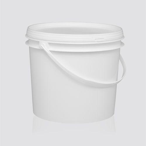 Balde plástico branco 2,2 litros com tampa - 100 Unidades