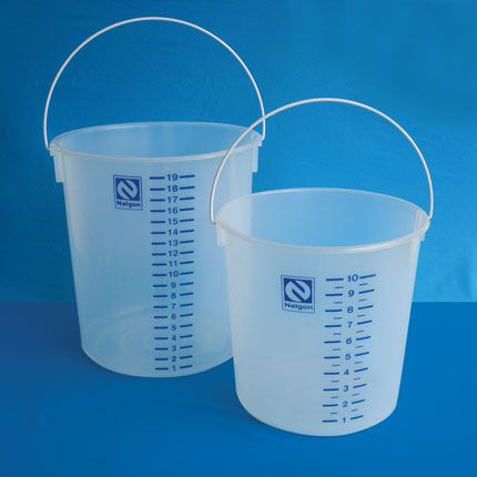 Balde graduado em polipropileno (PP) 10 litros Nalgon