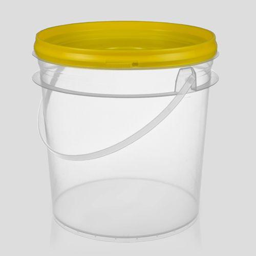 Balde plástico 3,6 Litros branco ou transparente  -  20 unidades