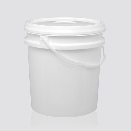 Balde Plástico branco 12 litros com alça e tampa - 10 Unidades
