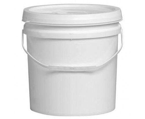 Balde plástico branco  2,2 litros com tampa - 30 Unidades