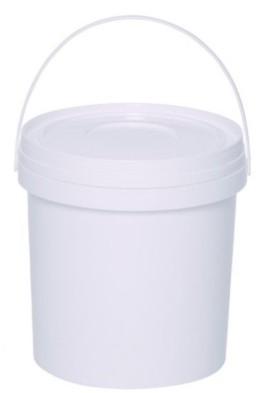 Balde Plástico branco com tampa 4 litros - Embalagem com 25 unidades