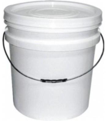 Balde plástico branco 20 Litros com tampa e alça 20 metalica - 10 Unidades