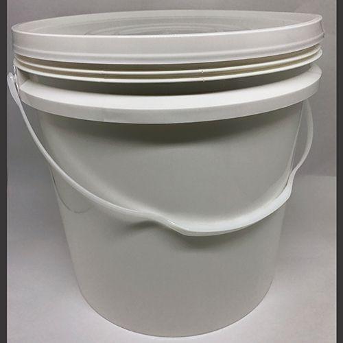 Balde plástico branco ou preto com tampa e alça 16 litros