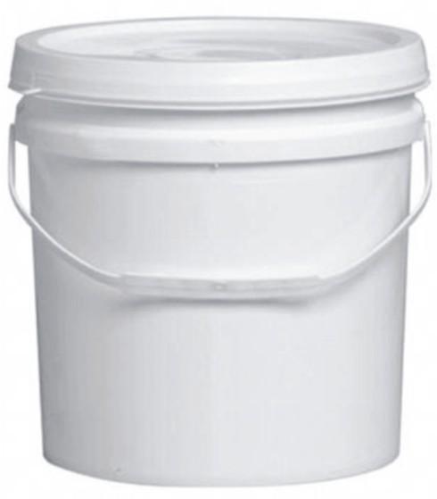 Balde Plástico branco 10 litros com alça e tampa - 12 Unidades
