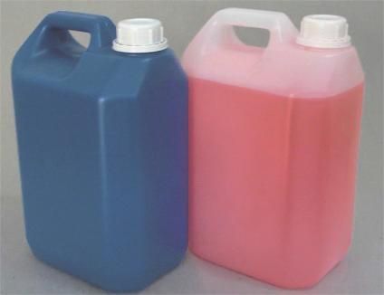 Bombona plástica natural 5 litros com tampa fixa - 10 Unidades