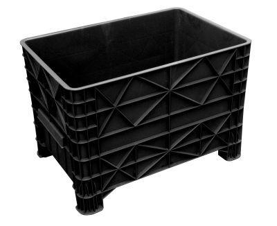 Caixa plástica 372 litros sem rodízios e sem tampa