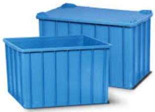 Caixa Plástica com tampa 130 litros