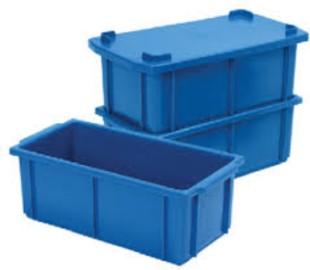 Caixa plástica fechada com tampa 61 litros