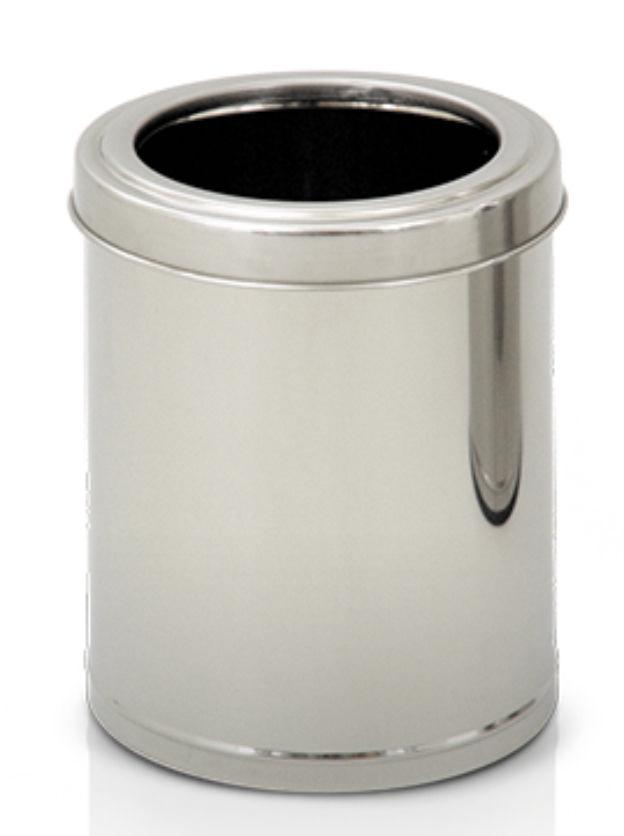 Cestinho em aço inox com aro 13 litros