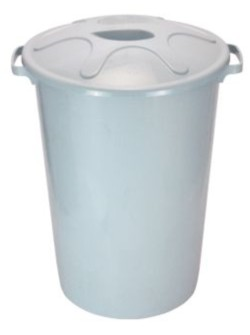 Cesto de lixo branco com tampa 100 litros