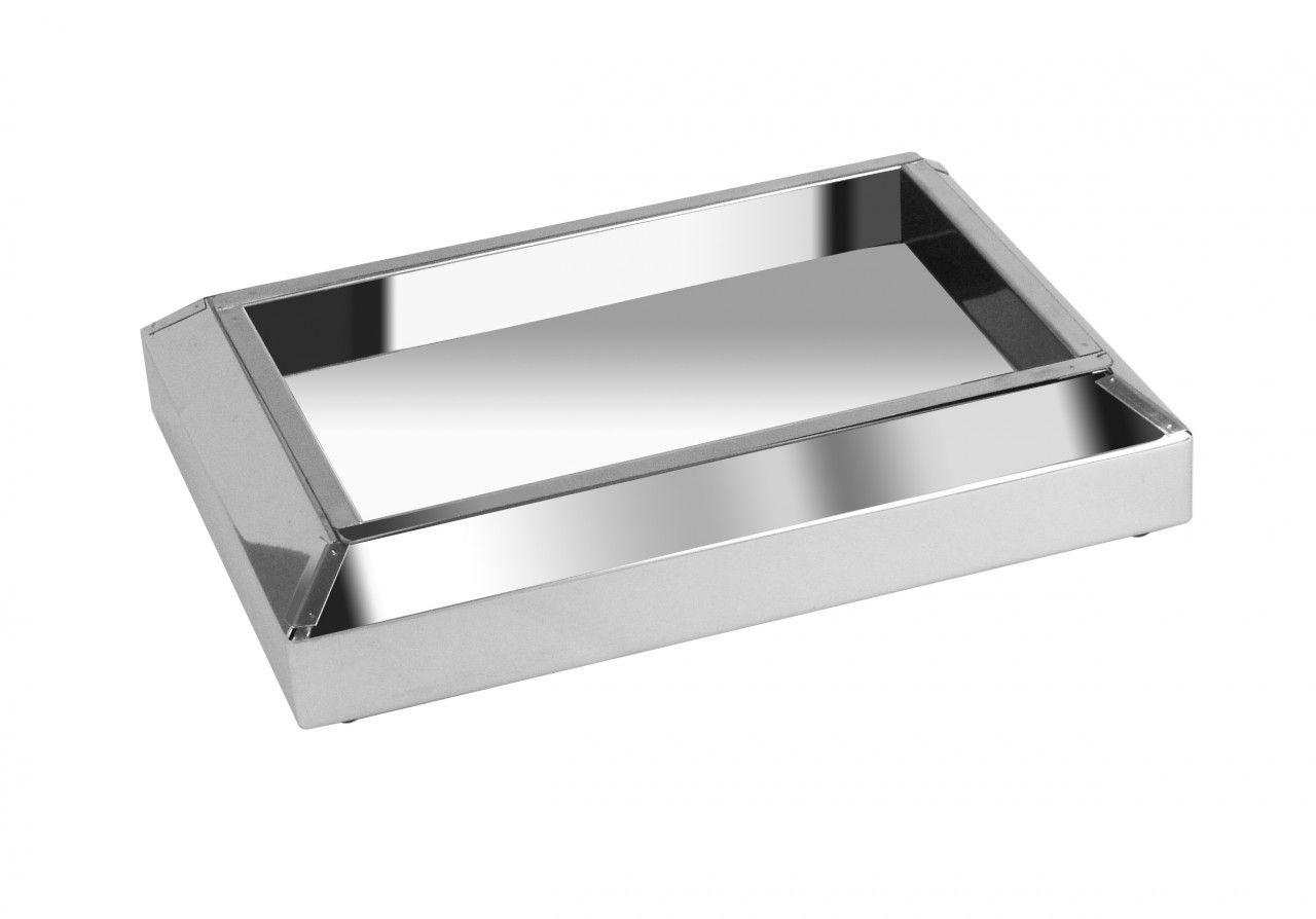 Cinzeiro De Chão Em Aço Inox - 3 Unidades