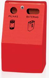 Coletor de Pilhas e baterias em fibra