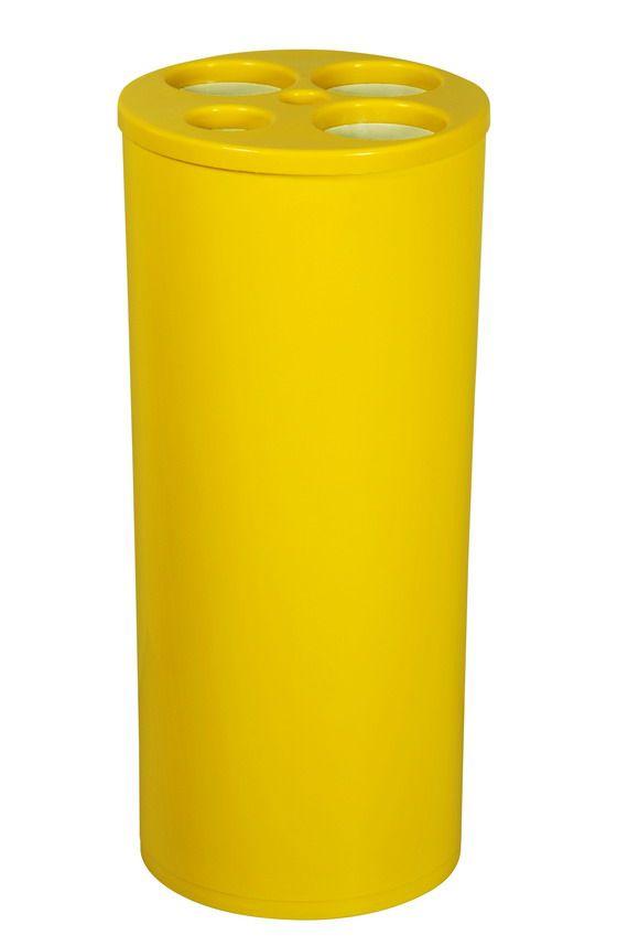 Coletor para copos descartáveis de água e café