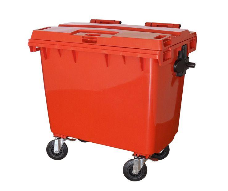 Conteiner plástico com rodas 1000 litros