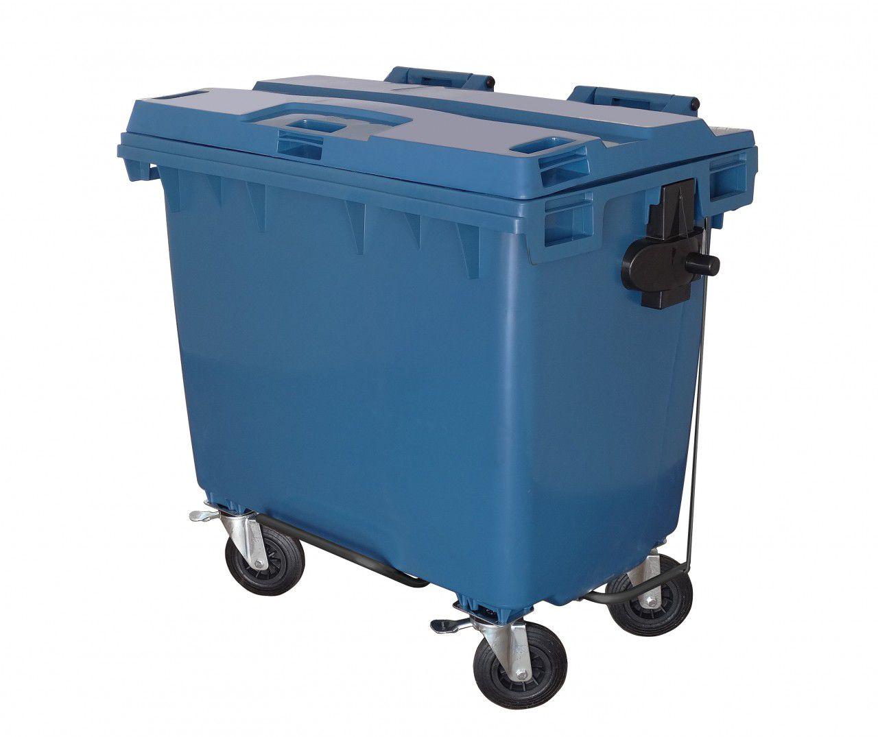 Conteiner plástico com rodas 660 litros com pedal