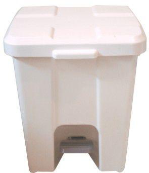 Lixeira plástica quadrada com pedal 30 litros