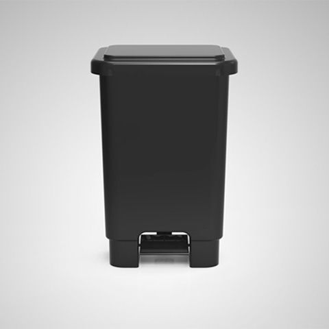 Lixeira retangular com pedal 100 litros - Branca